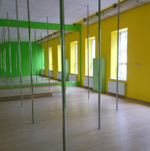 Foxy Lady - танцевальный зал с пилонами и полотнами • 2021 • RoomRoom 1