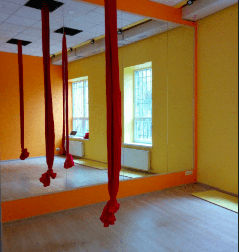 Foxy Lady - танцевальный зал с пилонами и полотнами • 2021 • RoomRoom 2