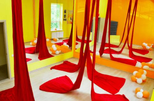 Foxy Lady - танцевальный зал с пилонами и полотнами • 2021 • RoomRoom 3