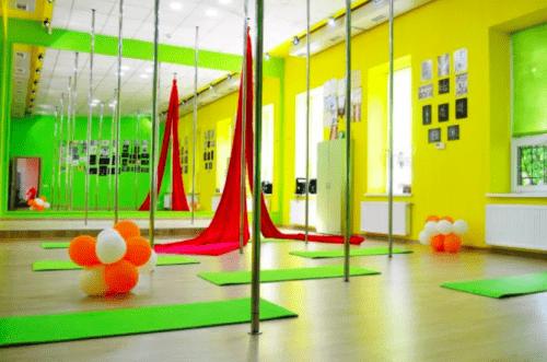 Foxy Lady - танцевальный зал с пилонами и полотнами • 2021 • RoomRoom 4